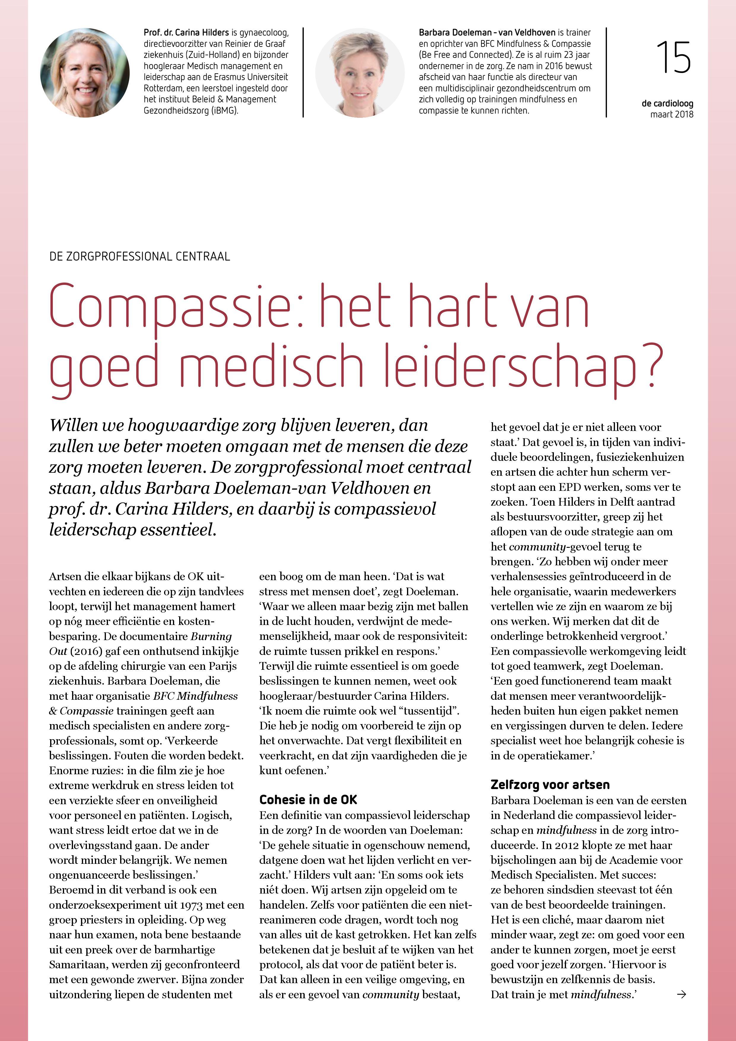 Compassie in medisch leiderschap